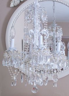 Shabby Chic Romantic Cottage Chandelier