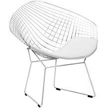 Poly And Bark Morph Lounge Chair In White Blue Chairs Living