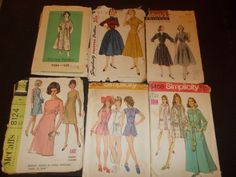 Inventory 94 Vintage Sewing Patterns Lot of 6 size 16