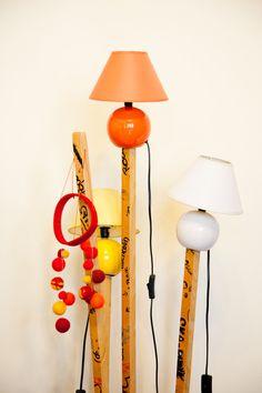Self created lamps by Lorenz Seidler — Founder of Art Platform eSel, Apartment & Studio, Margareten, Vienna