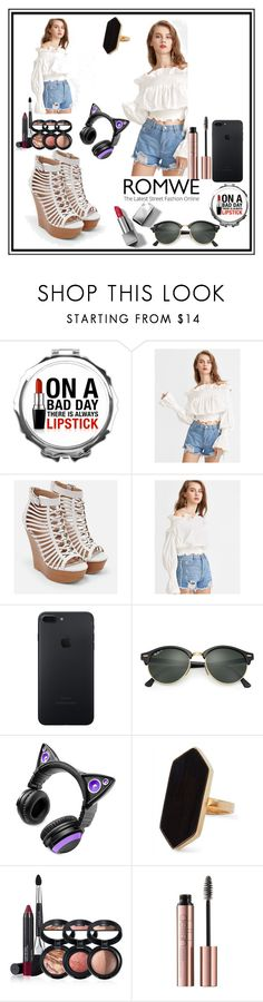 """""""contest"""" by fridab-1 ❤ liked on Polyvore featuring JustFab, Ray-Ban, Brookstone, Jaeger, Laura Geller and Burberry"""