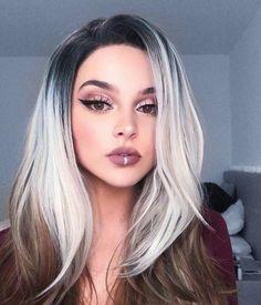 17 Stunning Examples of Balayage Dark Hair Color - Style My Hairs Grey Hair Wig, Dark Hair, Hair Dye, Ombre Hair Color, Hair Color Balayage, Hair Colour, Hair Highlights, Winter Hairstyles, Wig Hairstyles