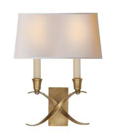 Visual Comfort E. F. Chapman Cross Bouillotte 10 Inch Wide Wall Sconce | Capitol Lighting 1-800lighting.com