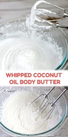 Want to make whipped coconut oil moisturizer that's not only gentle on your skin but that is easy to make too? All you need is coconut oil and an electric mixer! Add essential oils if you like, but coconut oil alone leaves a sweet aroma on your skin. Coconut Oil Uses For Skin, Whipped Coconut Oil, Homemade Coconut Oil, Coconut Oil Beauty, Whipped Body Butter, Coconut Oil Moisturizer, Coconut Oil Lotion, Diy Moisturizer, Avon Products