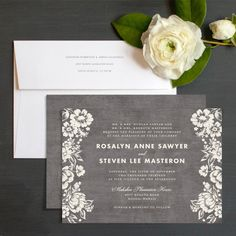 Woodsy Blooms Rustic Wedding Invitation by elli.com