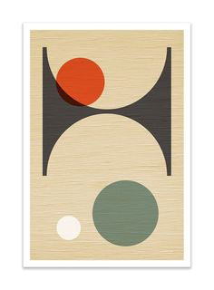 PER FORMARE no.3 Giclee Print Mid Century Modern by Thedor