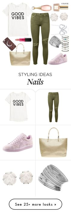 """""""OOTD"""" by thebeauty26 on Polyvore featuring Tommy Hilfiger, Current/Elliott, Puma, Dorothy Perkins, Chanel, Roberto Coin, Miss Selfridge, Accessorize, MAC Cosmetics and Christian Dior"""