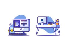 Coding Workspace by Sooodesign #Design Popular #Dribbble #shots