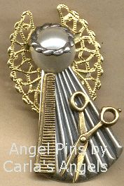 Hair Dresser Angel Pin - $17.95. Good gift for my fellow stylists.