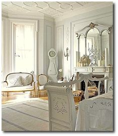 Gustavian Designed Interior From Swedishinteriordesign.co.uk