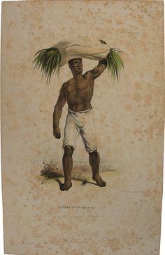 Mário de Andrade    Título: Escravo do Rio de Janeiro  Técnica: litografia colorida s/ papel