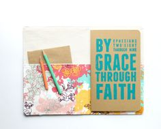 Portfolio and Journal GIFT SET, Inspirational Quote Moleskine with Organizer Cover, Teal and Coral, Under 50