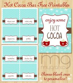 hot cocoa free printable   http://www.partyblog.mygrafico.com/freebie-friday-hot-cocoa-bar-printables/hotcocoapreview/#