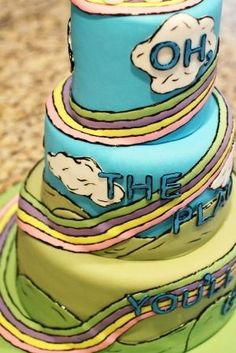 """Oh, the Places You'll Go!"""" By Dr. Seuss end of school year tradition Graduation Presents For Him, Graduation Ideas, Dr Seuss Birthday Party, Birthday Parties, Birthday Ideas, Summer Cakes, End Of School Year, Specialty Cakes, Class Projects"""