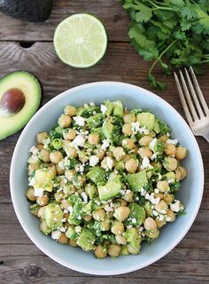 Chickpea, Avocado and Feta Salad