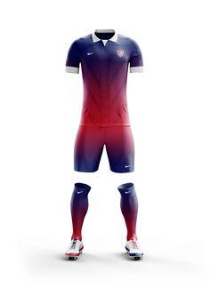 US International Soccer Kits on Behance Soccer Kits, Football Kits, Football Jerseys, Football Outfits, Sport Outfits, International Soccer, Soccer Uniforms, Soccer League, Football Design