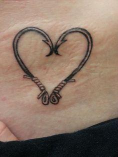 heart fish hook tattoo %u2013 Google Search