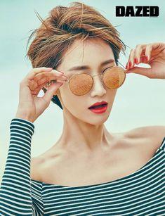 Go Jun-hee // Dazed & Confused Korea Short Hair Undercut, Undercut Hairstyles, Girl Hairstyles, Haircuts, Girl Short Hair, Short Hair Cuts, Asian Hair Bob, Go Jun Hee, Shot Hair Styles