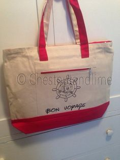 Personalized Cruise tote bag- Free shipping! by ChestnutandLime on Etsy