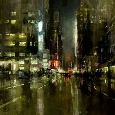 """Jeremy Mann - Artist 17 травня  """"New York (no.7)"""" Oil on Panel 48 x 48 in. 2014"""