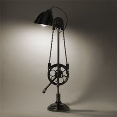 Bicycle desk lamp #Bike #RecycledLamp #DeskLamp @idlights