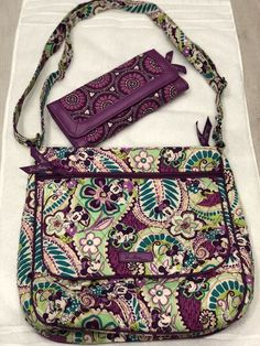 2423e5824 Disney Vera Bradley Mickey Paisley Print Crossbody/Wallet Combo.  (Authentic) #fashion
