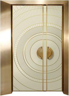 Art Deco Pre - and half - door, art - designed entrance doors - ART - Reshafim Muebles Art Deco, Art Nouveau, Main Door Design, Deco Originale, Decoration Inspiration, Decor Ideas, Modern Art Deco, Modern Door, Unique Doors