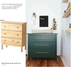 IKEA Hack our bedroom. only ombré the drawers l. - Furniture IKEA Hack our bedroom. only ombré the drawers l. Hack Ikea, Ikea Hack Bedroom, Bedroom Drawers, Hack Hack, Tarva Ikea, Ikea Drawers, Ikea Hack Nursery, Ikea Hack Kitchen, Chest Of Drawers