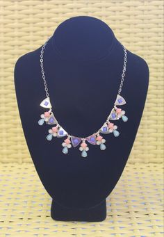 The Becca statement necklace with back clasp.