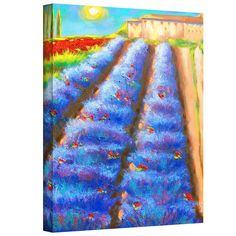'Provence Rows' by Susi Franco Painting Print on Canvas