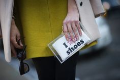 Best Street Style Shoes and Bags NY Fashion Week Fall 2014 ----  Get Up Close With Street Style's Best Accessories >>> A clutch that says it all.