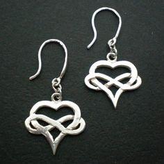 Silver Heart Infinity Earring Hoop by yhtanaff on Etsy, $38.00