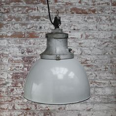 Mid-Century Industrial Gray Enamel & Cast Iron Ceiling Lamp from Industria Rotterdam for sale at Pamono Ceiling Canopy, Ceiling Lamp, Cast Iron, It Cast, Industrial Ceiling Lights, Rotterdam, Light Bulb, Enamel, Mid Century