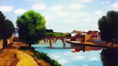 Miroonamoo Art 대전 성인취미미술 미루나무아트 River, Outdoor, Outdoors, Outdoor Games, Outdoor Living, Rivers