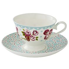 Vintage Kitchen Bone China Cup and Saucer