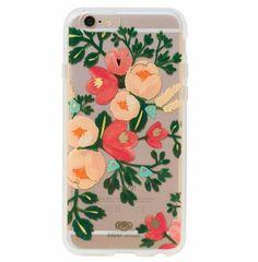 Peach Floral iPhone Case.
