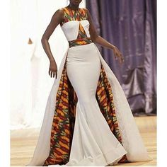 African dress with cape / African dresses / African maxi dress