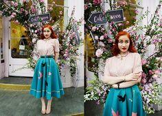 Get this look: http://lb.nu/look/8743091  More looks by Roberta D.: http://lb.nu/robertarimbaud  Items in this look:  Relic Vintage 1950´S Skirt, Beyond Retro Blosue   #elegant #retro #romantic