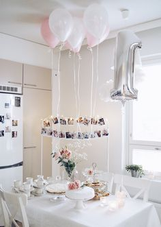 2nd Birthday Party For Girl, 1 Year Birthday, Mom Cake, Chandelier, Place Card Holders, Ceiling Lights, Table Decorations, Children, Baby