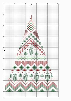 Modern Christmas Tree for Cross Stitch Motifs Blackwork, Blackwork Cross Stitch, Blackwork Embroidery, Xmas Cross Stitch, Cross Stitch Christmas Ornaments, Cross Stitch Cards, Paper Embroidery, Christmas Embroidery, Christmas Cross