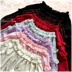 Diamond Honey -Hello Summer- Sweet Chiffon Frilly Long Sleeves Inner Lolita Blouse Shirt