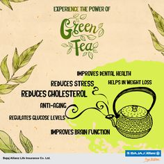 Lose weight with an uplifting flavor. Green tea has numerous health benefits. Let's have a look. #HealthTips