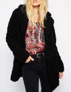 black | white  pastel goth nu goth pastel grunge grunge harajuku fachin jacket sweater top furry under30 free shipping rosegal