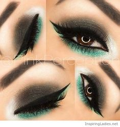 Black and green eye makeup | Inspiring Ladies