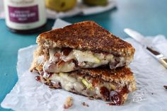 Cranberry and Pear Grilled Cheese - Transform Thanksgiving Leftovers