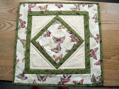 Butterflies small wall quiltlet by KellettKreations on Etsy, $19.00