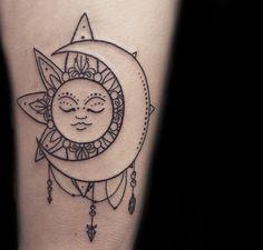 30+ Creative Sun and Moon Tattoo Ideas