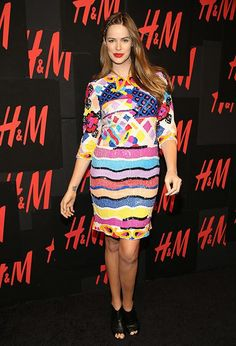 Model Robyn Lawley wore a beautifully sequined dress with a side braid to a private party for the Lana Del ReyH line.