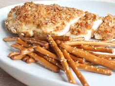 Pretzel and Beer Mustard Chicken Breasts. This is a crowd pleaser ...