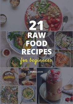 Does the hype around raw foods have you curious? Thinking about incorporating raw food recipes in your weekly meals?Getting started with raw foods can seem intimidating, but no worries, we've got you covered with these 21 amazing raw food recipes for beginners.If you haven't heard of the raw food diet, ...